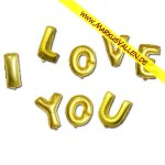 Folienballons Happy I-Love-You