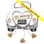Folienballon Just-Married-Beetle