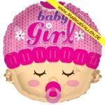 Folienballon baby-girl-gesicht