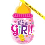 Folienballon baby-girl-pulla