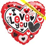 Folienballon i-love-you-herz