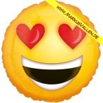 Folienballon smiley-love