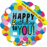 Folienballon Happy-Birthday rund XXL