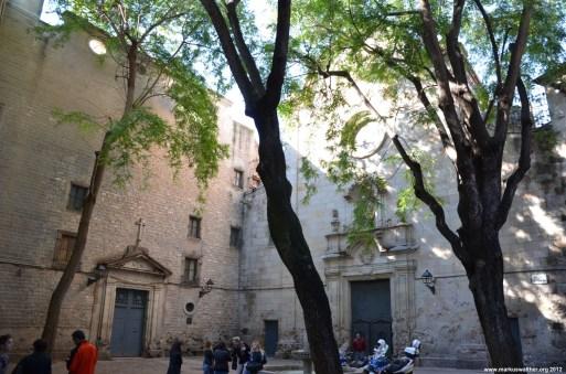 Ruhiger Hinterhof in Barcelona