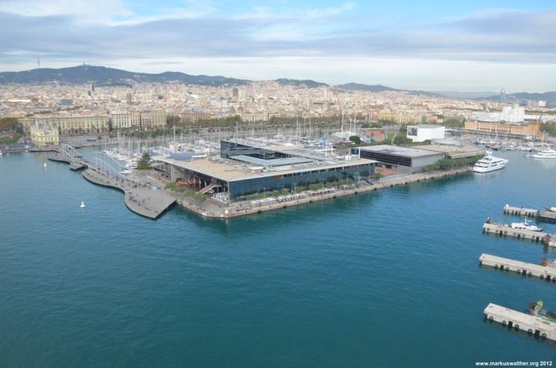 Barcelona Hafen von oben