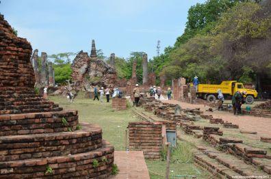 Ayutthaya Wat Phra Si Sanphet Arbeiter