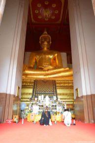 Ayutthaya Buddah im Wat Na Phra Men