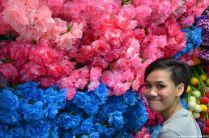 Bangkok Chatuchak Weekend Market Blumenwand