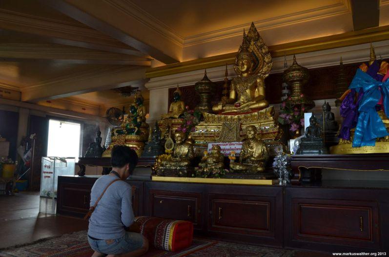 Bangkok Goldenener Berg Tempel