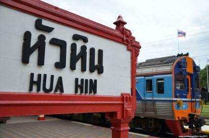 Hua Hin Railway Station Schild