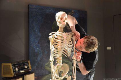 Skelett in der Kunstgalerie beim Sheraton Hua Hin