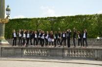 Gruppenfoto am Jardin des Tuileries