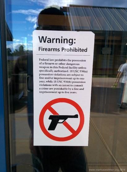 Schusswaffenverbot im Grand Canyon Visitor Center