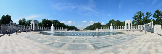 Panorama des WWII Memorial in Washington DC
