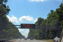 Verkehrsinformation auf dem Weg zum NASCAR Sprint Cup 2014 auf dem RIR