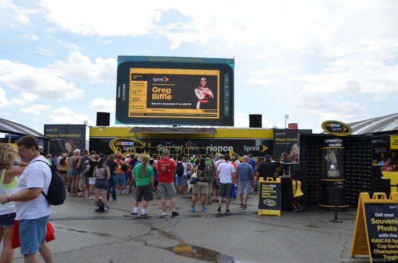Sprint Bühne beim NASCAR Sprint Cup auf dem RIR