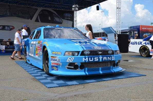 Front des 2014 Ford Mustang 50th anniversary Autos beim NASCAR Sprint Cup auf dem RIR