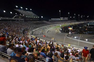 Safty Car Phase beim NASCAR Sprint Cup auf dem RIR