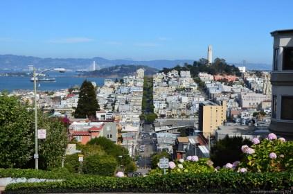 Ein Blick von der Lombard Street San Francisco