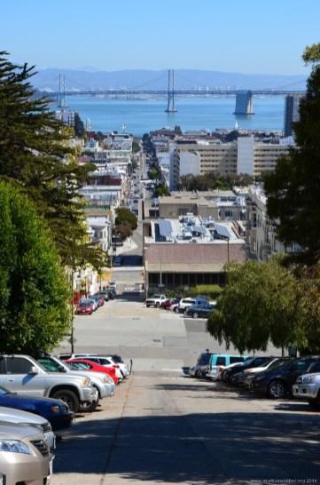 Bay Bridge und Bucht von San Francisco