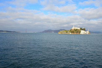 Alcatraz Island und Golden Gate Bridge