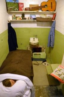 Nachgebildete Gefängniszelle auf Alcatraz