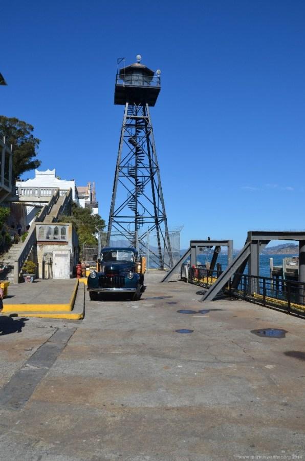 Wachturm auf Alcatraz Island