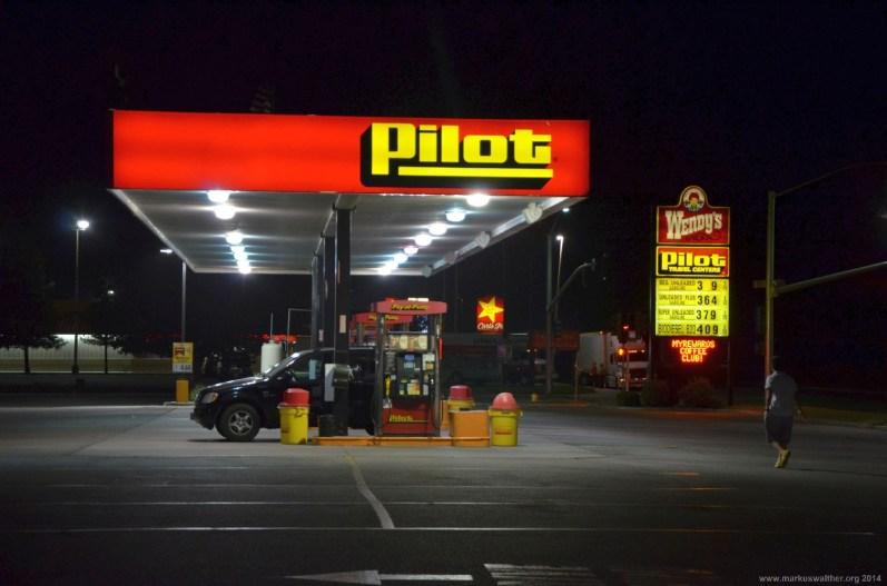 Pilot Tankstelle an der Interstate 5