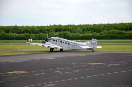 Ankunft der JU-52 in Egelsbach