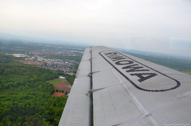 Auf dem Weg nach Frankfurt mit der JU-52