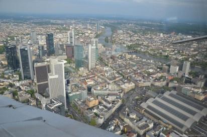 Die Innenstadt von Frankfurt am Main von Oben