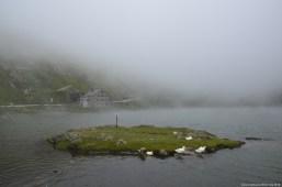 Lago del Gran San Bernardo im Nebel