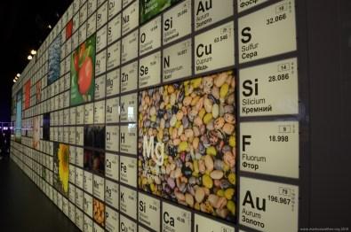 Expo 2015 Milano: Periodensystem im russischen Pavillion