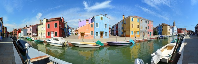 Panorama Fondamenta di Cao Moleca, Burano, Venedig, Italien