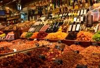 Im Mercado de La Boqueria, Barcelona
