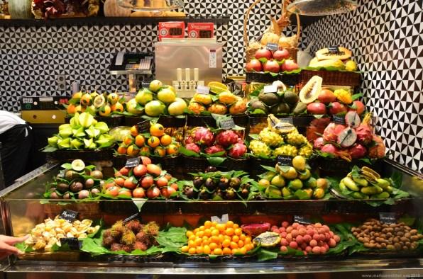 Obst im Mercado de La Boqueria, Barcelona