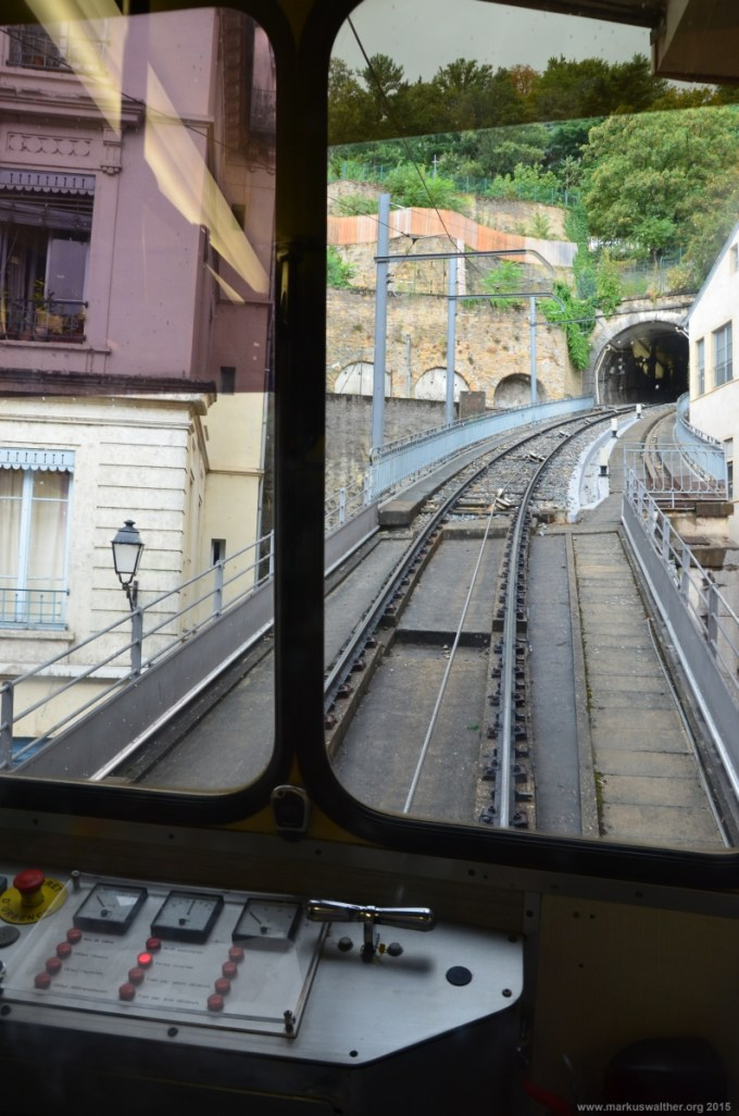 Fahrt in der Seilbahn Vieux Lyon