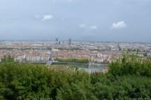 Blick von Notre-Dame de Fourvière über Lyon