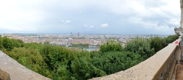Panorama über Lyon