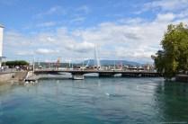 Blick auf die Pont du Mont-Blanc, Genf