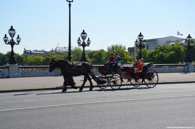 Kutsche auf Pont Alexandre III