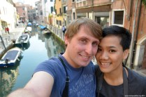 Apple und Markus in Venedig