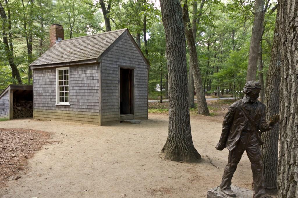 Thoreau cabin replica Walden Pond