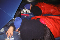 Mark Wilson sleeping rough at Byte Night 2007