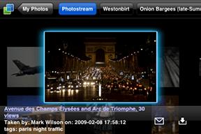 Cooliris iPhone application browsing Flickr