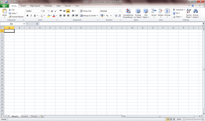 Excel 2010 first look