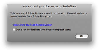 FolderShare is too old - time to upgrade