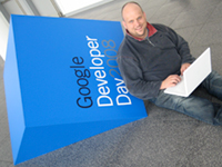 Me at Google Developer Day 2008