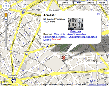 Google Maps France with a link to street view