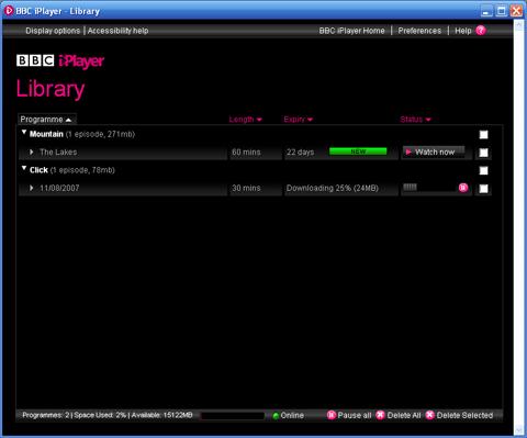 BBC iPlayer - downloading